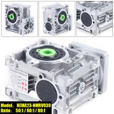 Nema23 030 Worm Gearbox Geared Speed Reducer For Stepper Motor Nema23 501 801