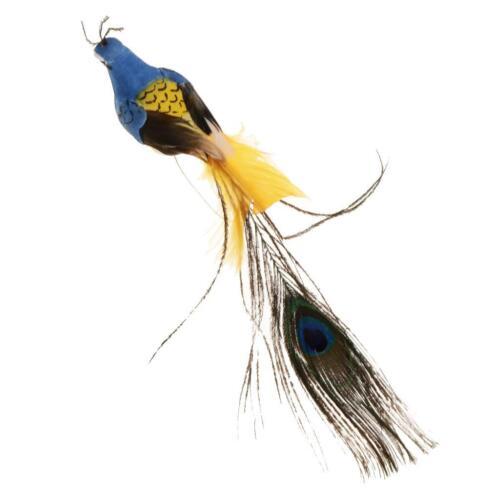 Garten Ornament künstliche Vogel Federschaum Taube Pfau Figur Dekor
