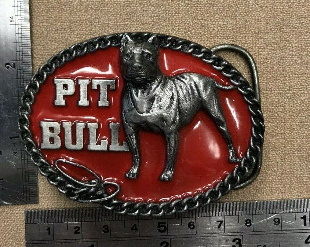 Vintage Original PIT BULL buckle 1994. By C&J very rare (11/24)