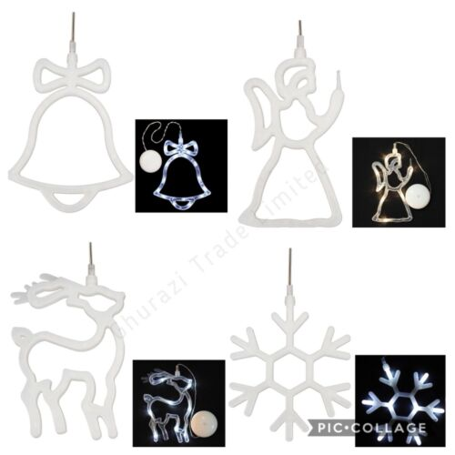 Bell 8 LED/'s Christmas Window Display 8x9 Lights Bright White Festive Decoration
