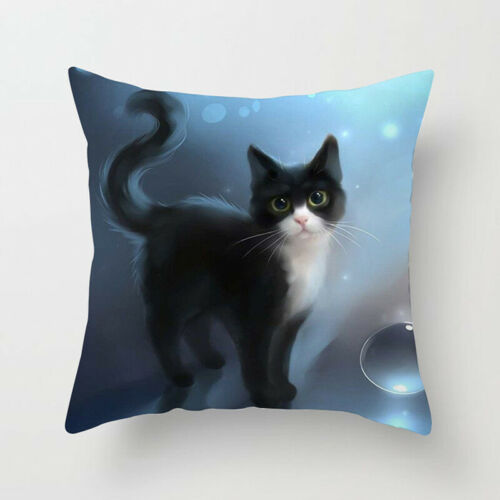 Cat Pattern Pillowcases Living Room Pillow Cover Soft Household Pillow Case BS