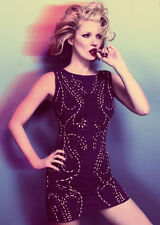 Kate Moss Topshop Black Suede Leather Laser Cut Out Dress UK 12 10