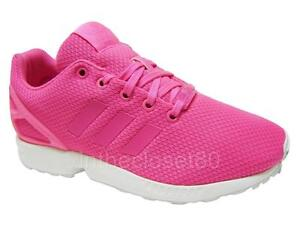541671802 ... official image is loading adidas zx flux solar pink white juniors  womens 35f54 dbfbf