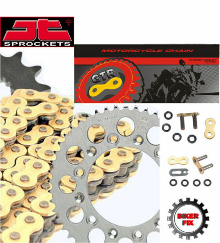 Triumph 900 Tiger 91-00 GOLD Extra Heavy Duty X-Ring Chain and Sprocket Set Kit