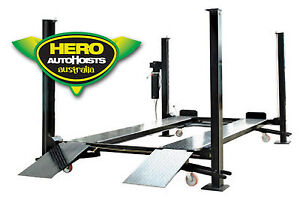 4 Post Movable Car Lift Storage Hoist Ebay