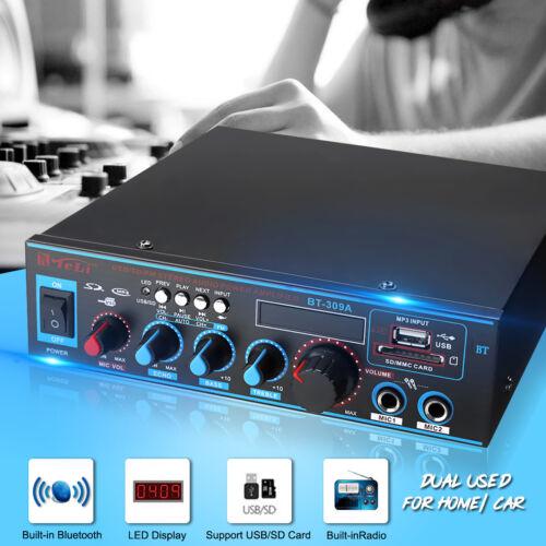 800W HiFi Endstufe Power Amp bluetooth Verstärker Stereo Amplifier 12V/220V DC