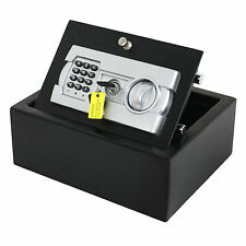 Drawer Safe Box Hidden Digital Home Security Lockbox Wall Cash Jewelry Firearms