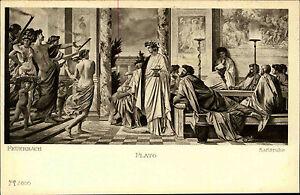 Ackermann-s-Kunstverlag-1920-Anselm-Feuerbach-Zeichnung-034-Gastmahl-des-Plato-034