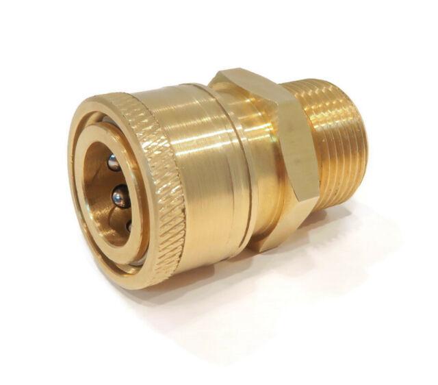 "3 Pcs Pressure Washer Brass Quick Connect Socket I//4/"" Fem Thread Brass 4000psi"