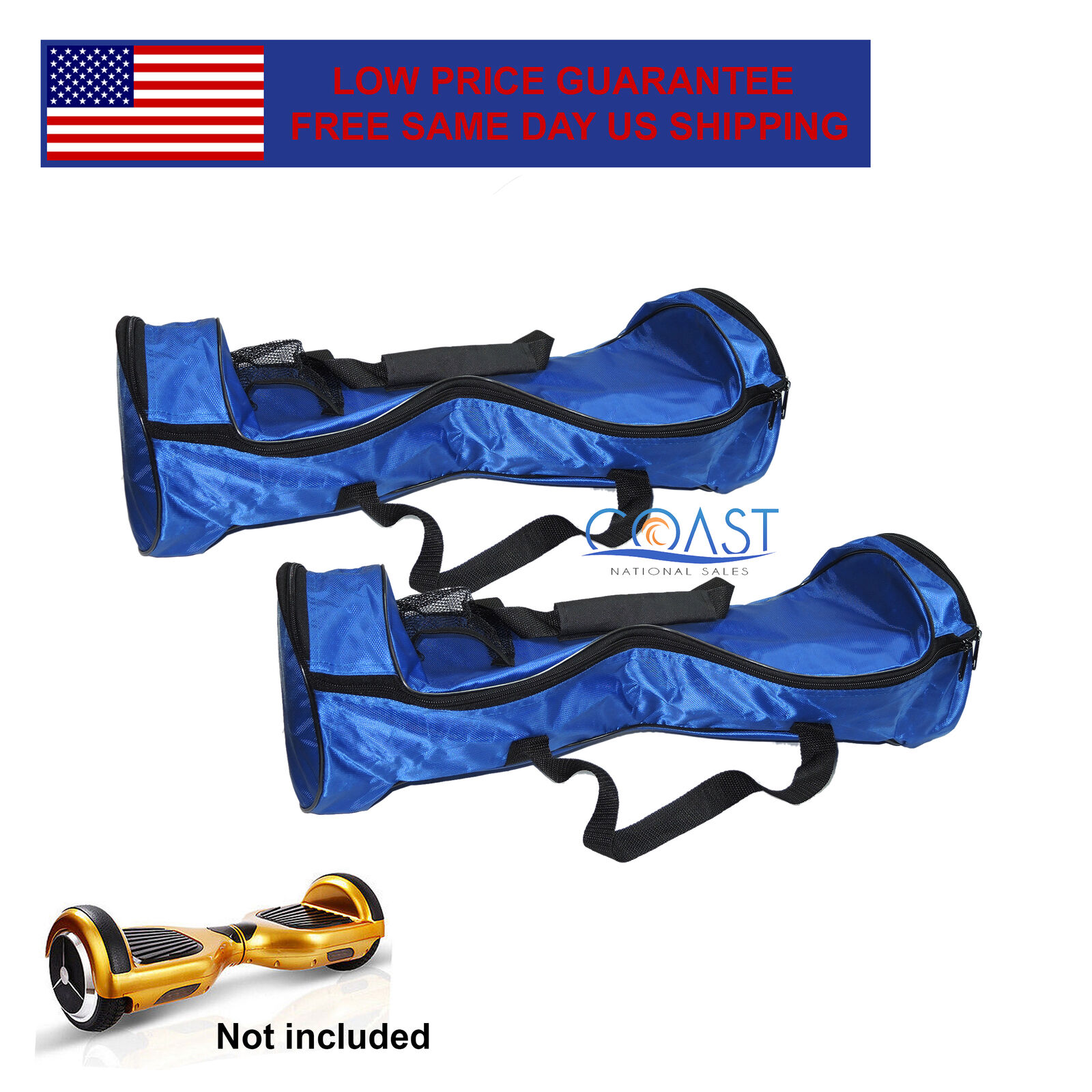 2x Smart Self Balancing Electric Unicycle Scooter Blue Carrying Bag Handbags