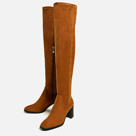 Rare_NWT ZARA AW16 STRETCH HIGH HEEL OVER-THE-KNEE OVER-THE-KNEE OVER-THE-KNEE Stiefel_7015/101 8a0209