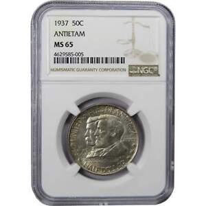 1937-Battle-of-Antietam-Commemorative-Half-Dollar-MS-65-NGC-90-Silver-50c-Coin