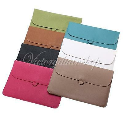 PU Leather Envelope Case Cover Sleeve Carry Bag for Laptop Apple Macbook Pro 13""
