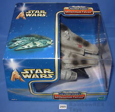 Star Wars Micro Machines Action Fleet 2002 MILLENNIUM FALCON BATTLE DAMAGED MIB