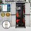 thumbnail 2 - Outdoor Adjustable Storage Cabinet Cupboard Patio Weatherproof Lockable Plastic