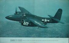 1946 GRUMMAN F7F-1 TIGERCAT AIR TRAILS POSTER