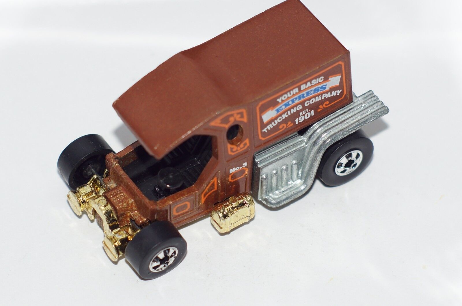 ORIGINAL Hot Wheels Oldies But Goodies - T-Totaller - Brown - BWs - gold Base
