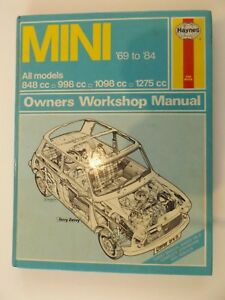 Haynes-Mini-039-69-to-039-84-All-Models-Owners-Workshop-Manual-The-Book-646-Repair