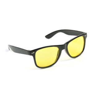 9c24ffbae01 Details about HD Night Sun Glasses Mens Womens Yellow Driving View Lens Car Driver  Sunglasses