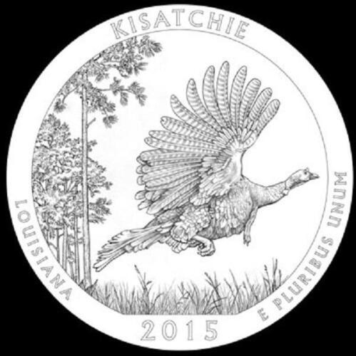 LOUISIANA 2 COINS P /& D MINT 2015 KISATCHIE NATIONAL FOREST NEW  BU QUARTERS