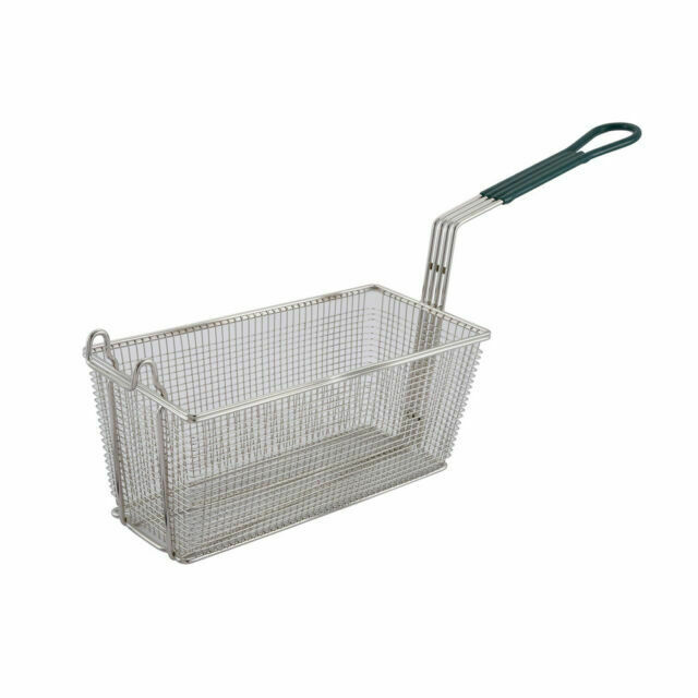 Bakeware for sale online WinCo Fb-30 Fry Basket With Green Handle