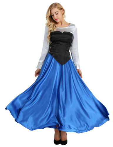 Women Adult The Little Mermaid Princess Ariel Cosplay Costume Outfit Party Dress