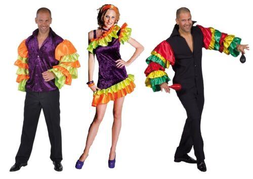 Flamenco Costume Camicia Abito Uomo spagnoli danza SAMBA SALSA Rio SAMBA spagnoli