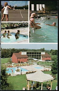 LANCASTER-PA-Continental-Inn-Hotel-By-Dutch-Wonderland-Vtg-Postcard-Old-PC