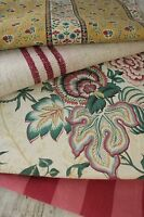 Antique French fabric vintage material PROJECT BUNDLE Indienne ticking