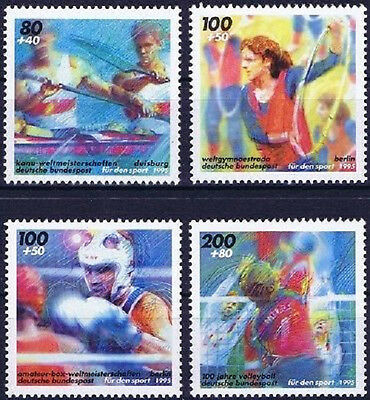 Brd 1995: Wm Und Volleyball! Sportmarken Nr. 1777-1780, Postfrisch! 1710 Um Der Bequemlichkeit Des Volkes Zu Entsprechen