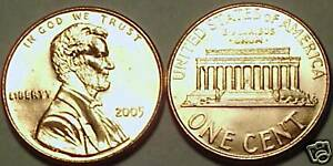 2005-P BRILLIANT UNCIRCULATED LINCOLN CENT<VERY NICE>