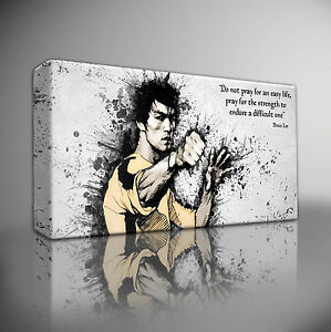 BRUCE-LEE-ICONIC-QUOTE-PREMIUM-GICLEE-CANVAS-WALL-ART-PRINT-Choose-your-size