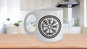 Vegvisir Coffee Mug Nordic Viking Compass Gift