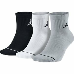 ce9692f4ed5 Nike Jordan Jumpman Dri-Fit Low Quarter Socks Multi 3 Pair SX5544 ...
