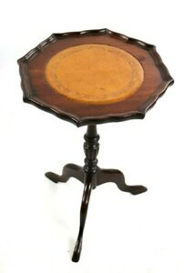 Regency-Style-Mahogany-Leather-Top-Pedestal-Wine-Table-5729