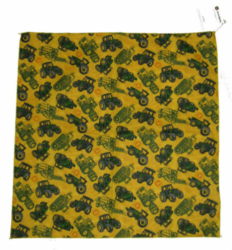 "22/""x22/"" John Deere Tractors Green and Yellow Bandana"