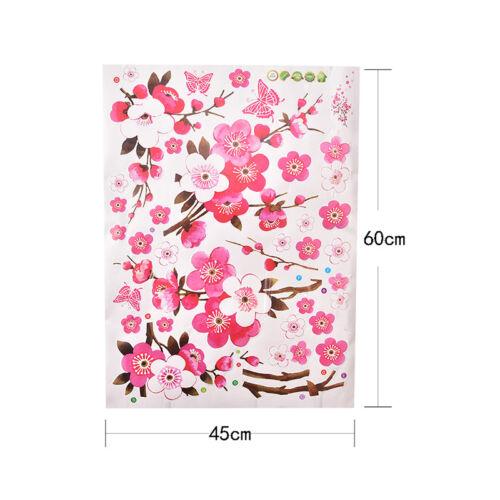 Room Peach Blossom Flower Butterfly Wall Sticker Vinyl Art Decal Decor Mural  X