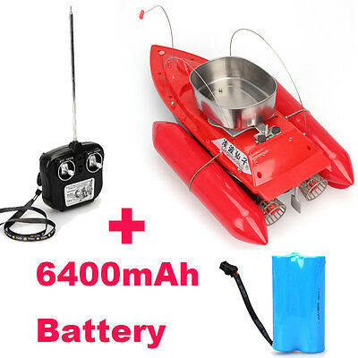 New Red T10 Bait Hook Boat Carp Fishing 300M Remote Control+Free 6400mAh Battery