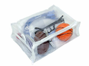 Heavy Duty Vinyl Zippered See-Through Storage Bags 8 x 6 x 2.5 8-pack Clear