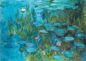 Framed Print - Monet Water Lilies (Picture Poster Painting Art Van ...
