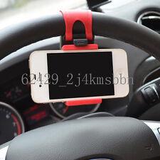 "Car Mount Holster Clip On Steering Wheel iPhone 4.7"" Samsung HTC LG Phone Holder"