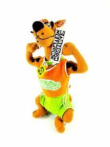 CARTOON NETWORK SCOOBY DOO DOG Stuffed Plush Toy 1998 Sports Gym RARE NEW