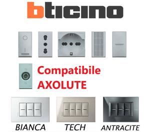 BTICINO SERIE AXOLUTE COMPATIBILE PRESE INTERRUTTORI PULSANTI DEVIATORI USB