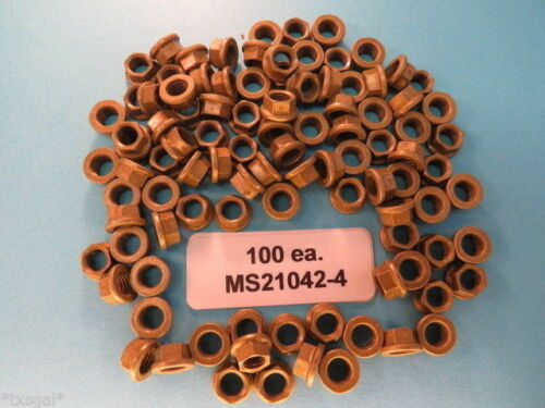 MS21042-4 Reduced Hex Head Aircraft Lock Nuts 100