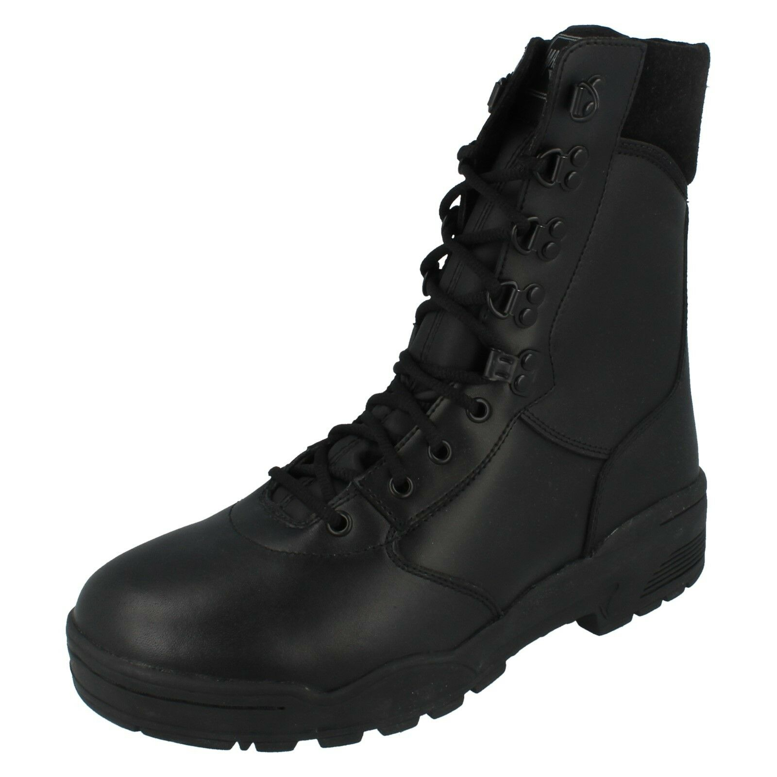 Mens Magnum Black Leather Lace Up Boots LEATHER CEN