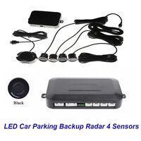 4 Sensors Black Buzzer Sensor Car Parking Reverse Assistance Radar Backup System