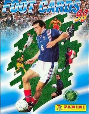 FOOT CARDS CANNES CARTE PANINI a choisir 1998