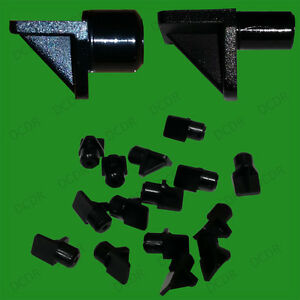 20x 5mm Or 8mm Push In Black Plastic Shelf Support Pegs