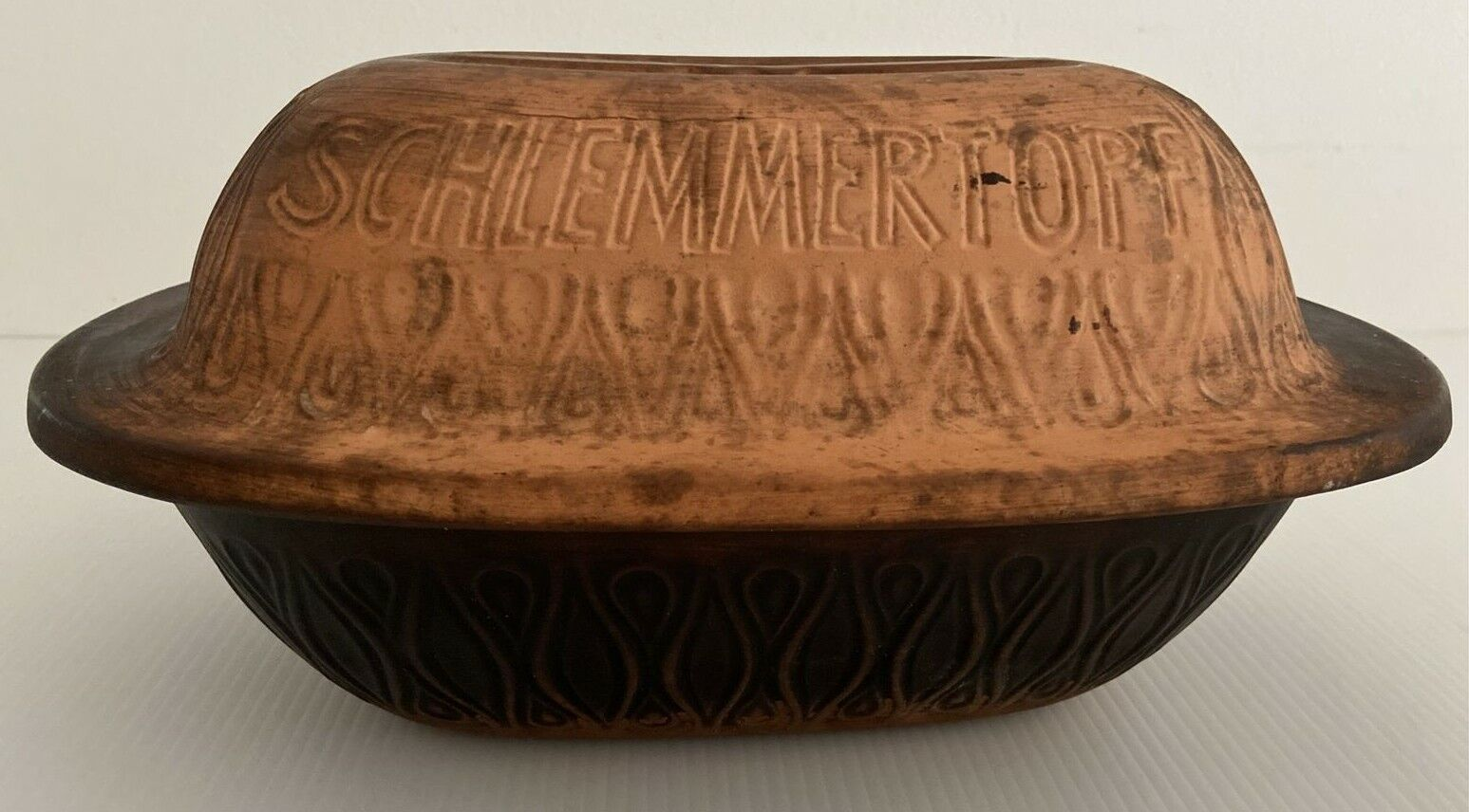 Image 1 - Clay Oven Roaster Schlemmertopf 832 Scheurich West Germany Lidded Tray Dish GUC