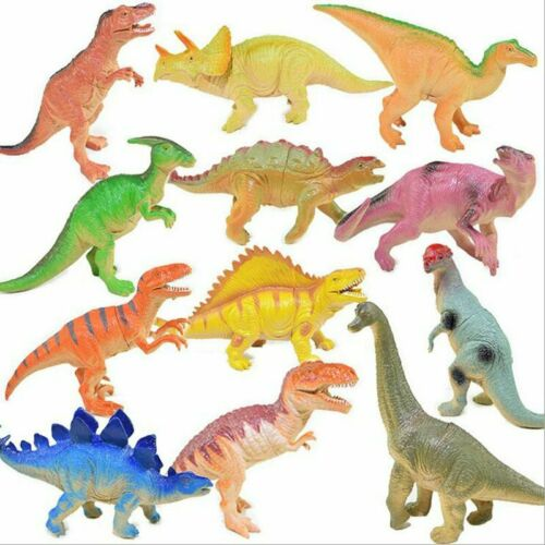 Small Plastic Dinosaur Animals Model Figures Jurassic World Collectibles